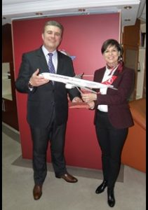 Meeting of the Director General Mr. Tuntev with Ms. Arikan, General Manager of Turkish Airlines in Macedonia